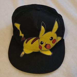 Pokemon Boy's Youth Onesize Hat Black